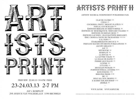 artists print 2013